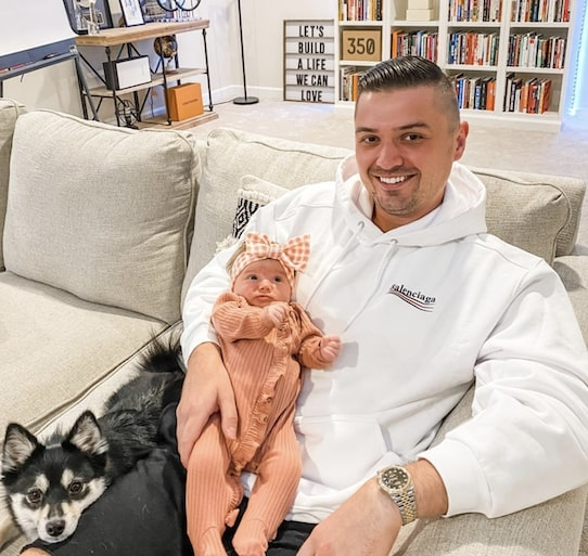 Peter Pru With Baby